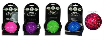 Spikey Dog Ball Toy with Flasher