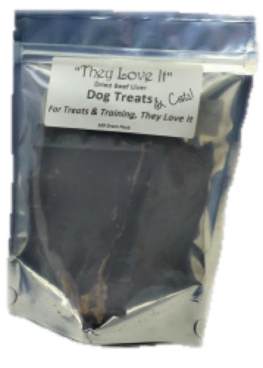 Dried Beef Liver Treats 100g suitable for Cats