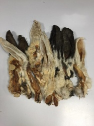 Dried Rabbit Ears with Fur 100g