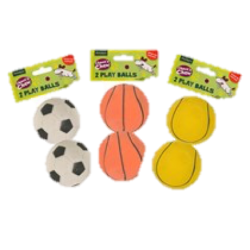 Rubber Play Balls 2pk