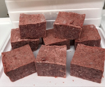 FINE Rabbit Mince 10kgs small blocks - Working Dog