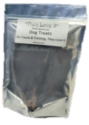 Dried Beef Liver Treats 100g Working Dog