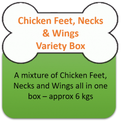 Variety Box - Chicken Feet, Wings, Necks 6kgs